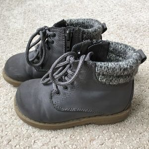 Toddler Dream Pairs Faux Fur Lace-up Boots